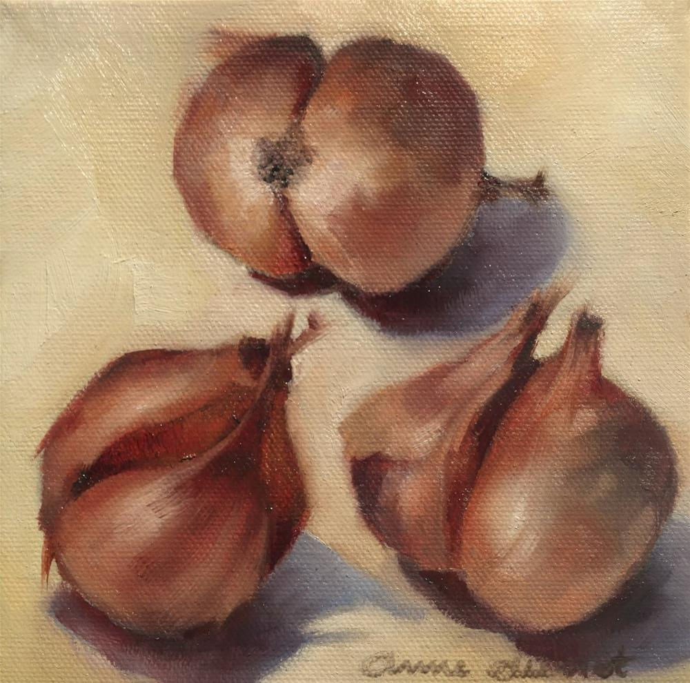 """Shallots"" original fine art by Anne Ducrot"
