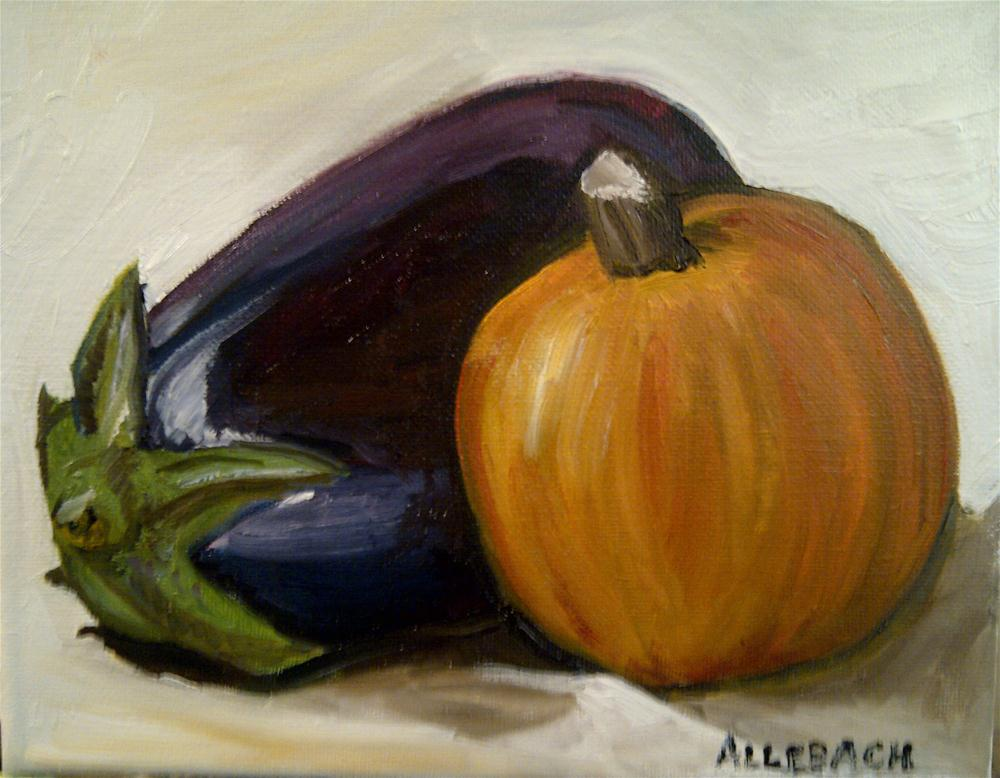 """Pumpkin and Eggplant"" original fine art by Jo Allebach"