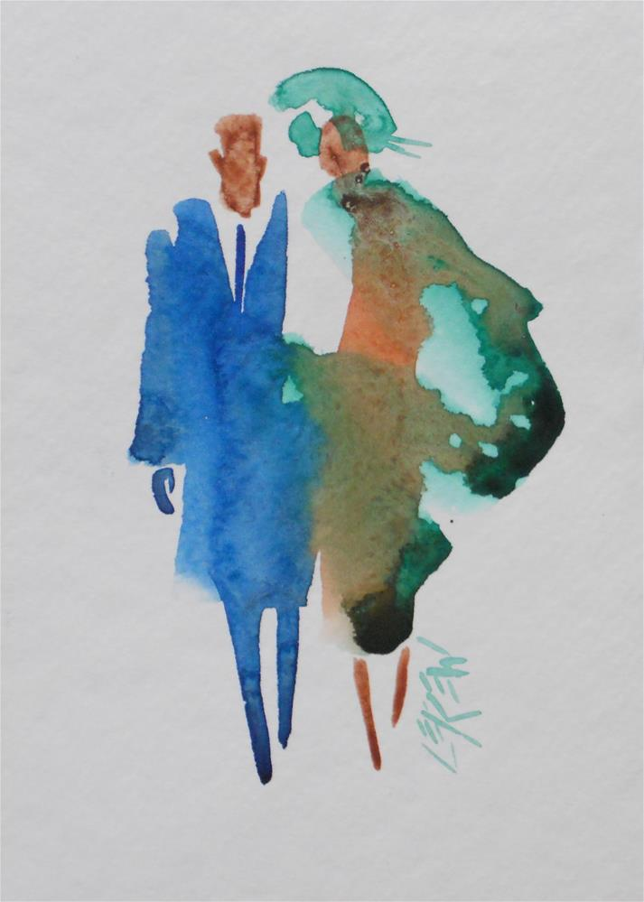 """Serendipity Blot Figure by Larry Lerew #140108"" original fine art by Larry Lerew"