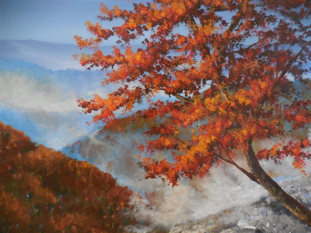 """Fall in the Blue Ridge"" original fine art by Terri Nicholson"