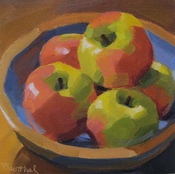 """Bowl of Honeycrisp Apples"" original fine art by Robin Rosenthal"