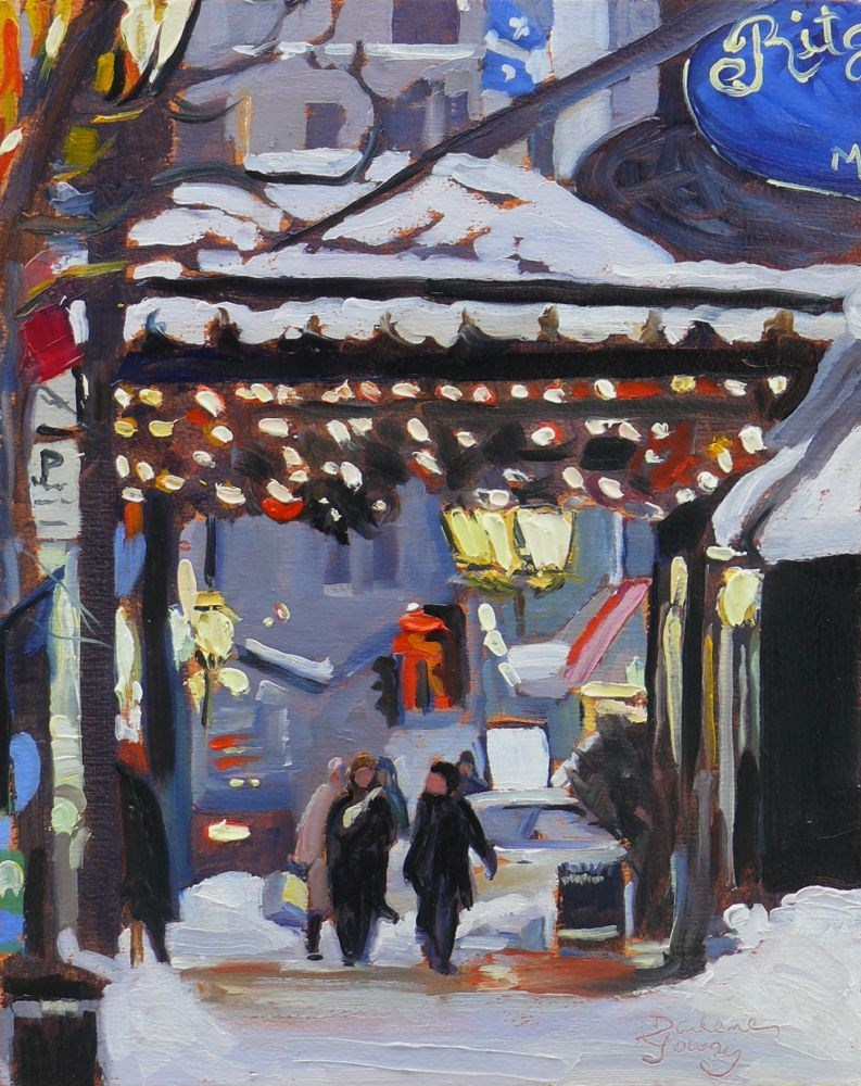 """574 Montreal the Ritz"" original fine art by Darlene Young"