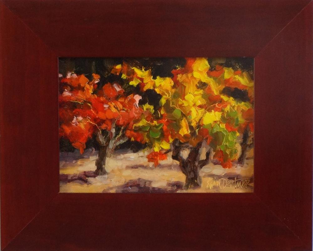 """""""Old Vines Aflame"""" original fine art by Erin Dertner"""