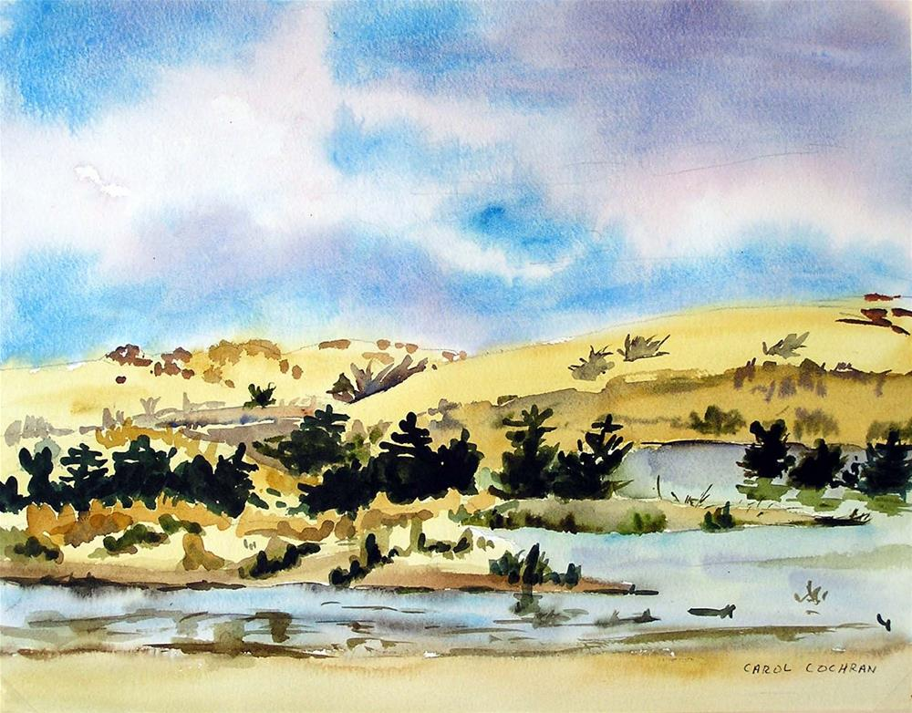 """Afternoon at the Dunes"" original fine art by Carol Cochran"