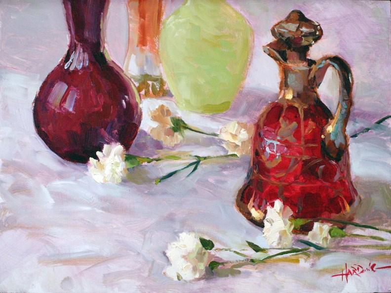"""Cranberry Decanter"" original fine art by Scott Harding"
