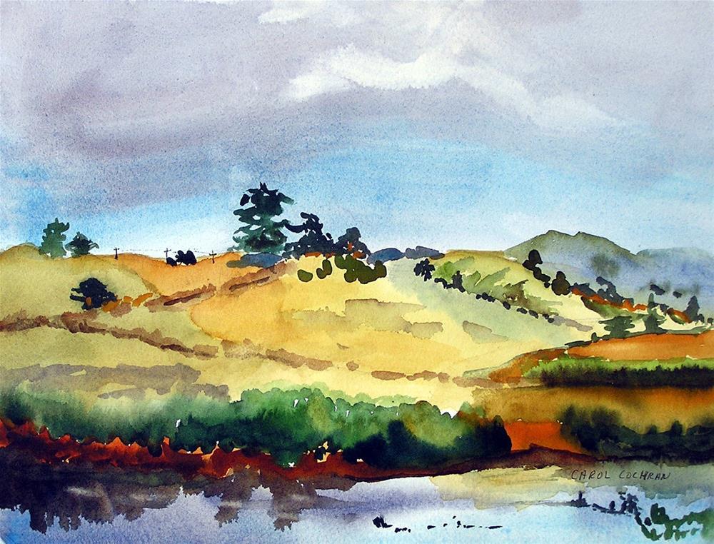 """Lakeside Evening"" original fine art by Carol Cochran"