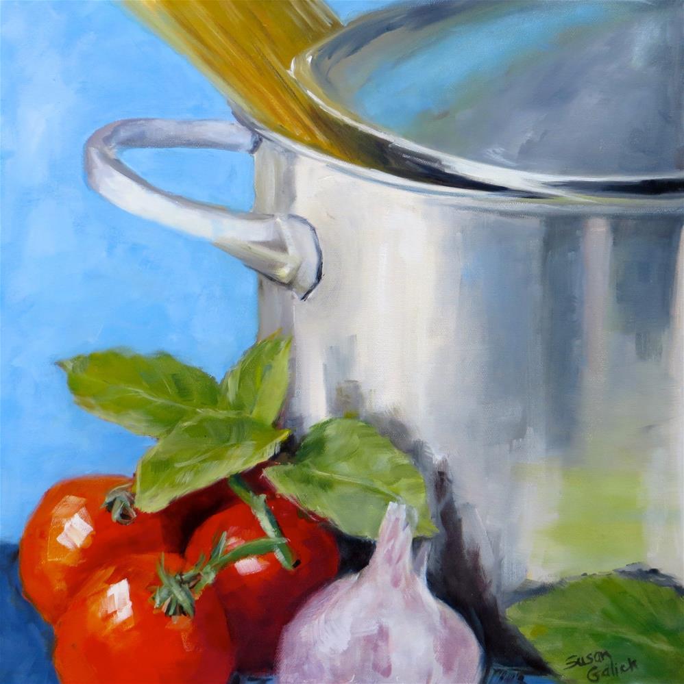 """Spaghetti Pot"" original fine art by Susan Galick"