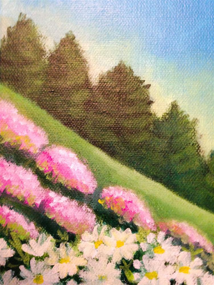 """Wildflowers"" original fine art by Giovanni Antunez"