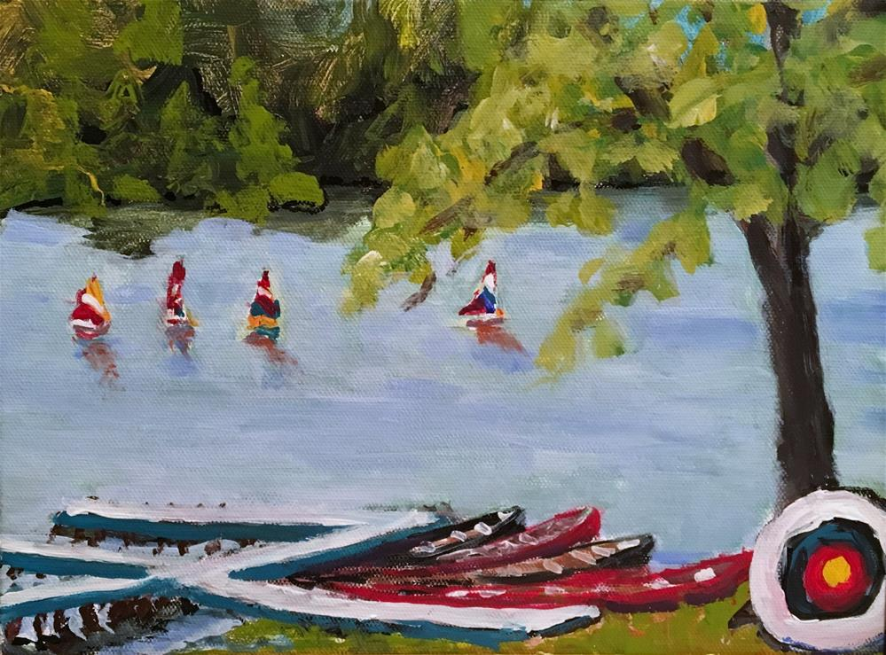 """Camp Nakanawa"" original fine art by Susan Elizabeth Jones"