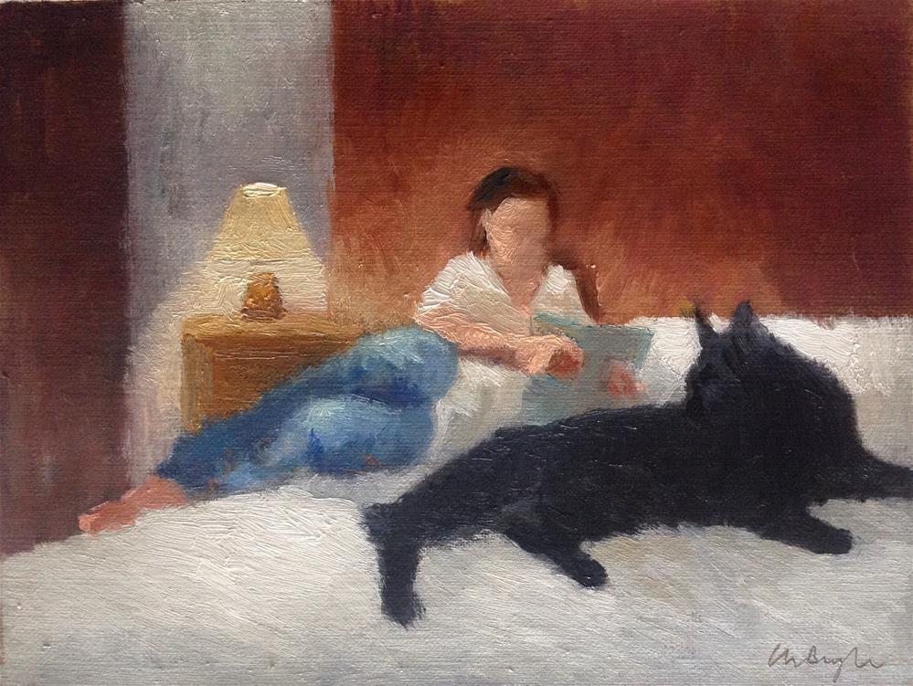 """A quiet moment"" original fine art by Christine Bayle"