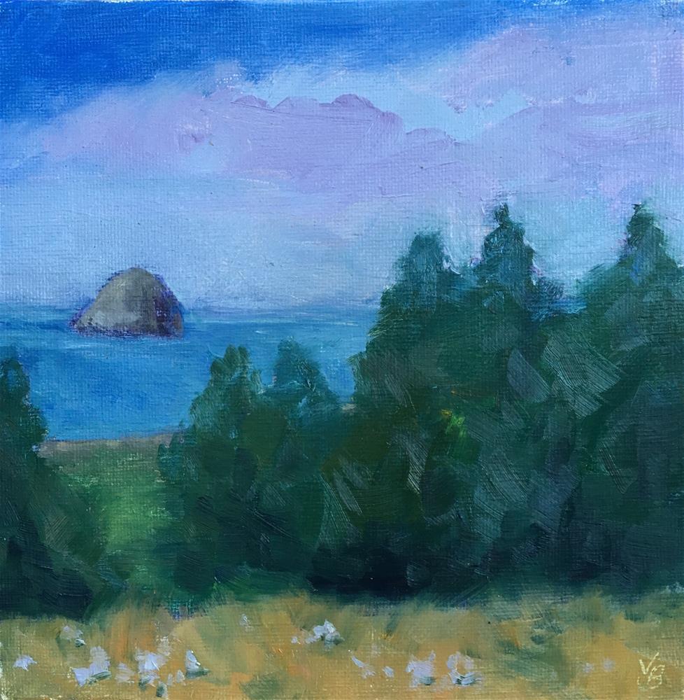 """""""Haystack Rock"""" original fine art by Victoria  Biedron"""