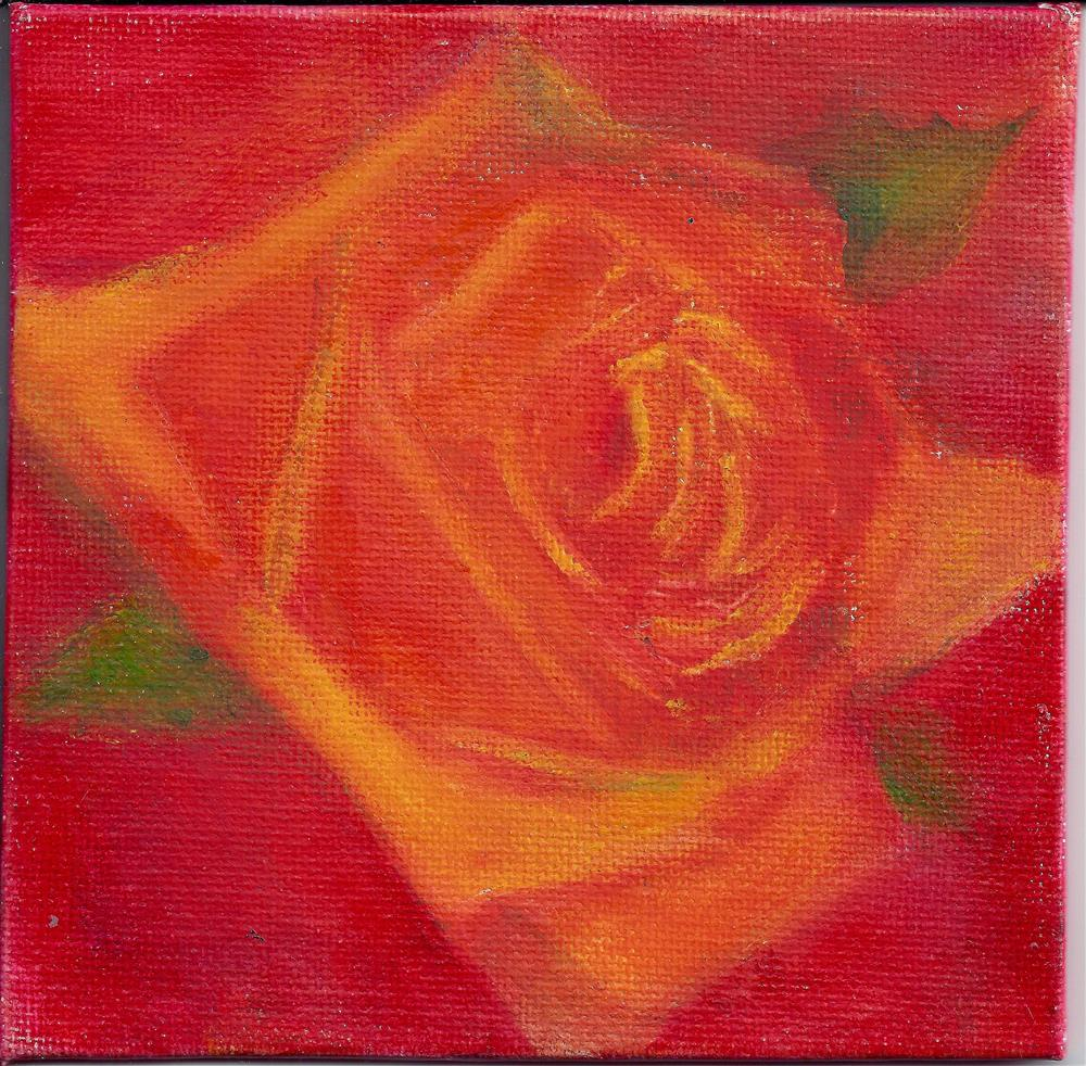 """Yellow rose"" original fine art by Elizabeth Current"
