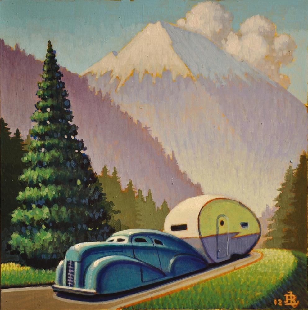 """Mountain Road"" original fine art by Robert LaDuke"