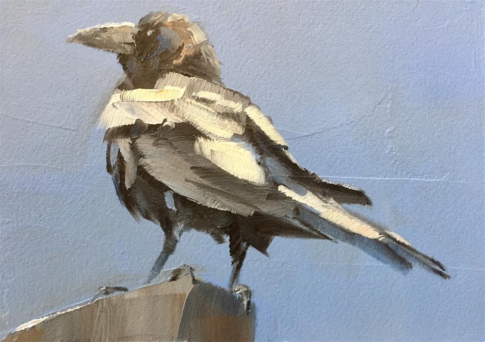 """Proud Raven"" original fine art by Gary Bruton"