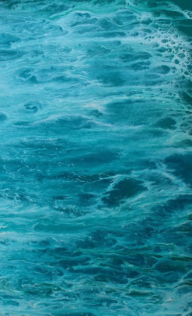 """""""Contemporary Abstract Seascape Art Painting Into The Deep II by Colorado Contemporary Artist Kimbe"""" original fine art by Kimberly Conrad"""