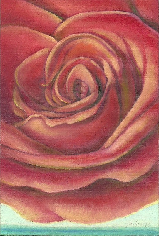 """Floating Rose"" original fine art by Carol L Adamec"
