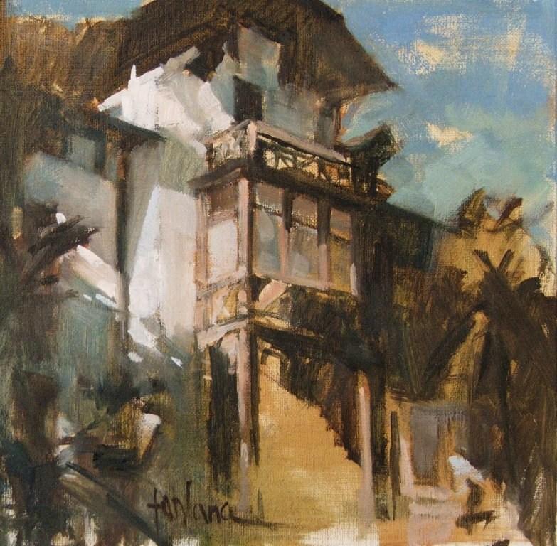 """""""Merano"""" original fine art by Francesco Fontana"""