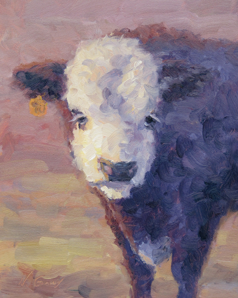 """Heifer"" original fine art by Naomi Gray"