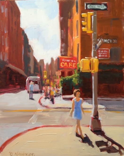 """Strolling in Soho"" original fine art by Deborah Newman"