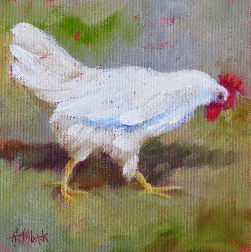 """Chicken Licken"" original fine art by Pam Holnback"