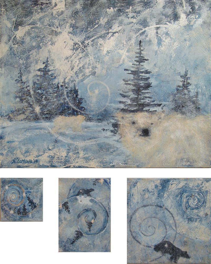 """Polar Nocturne"" original fine art by Anna Starkova"