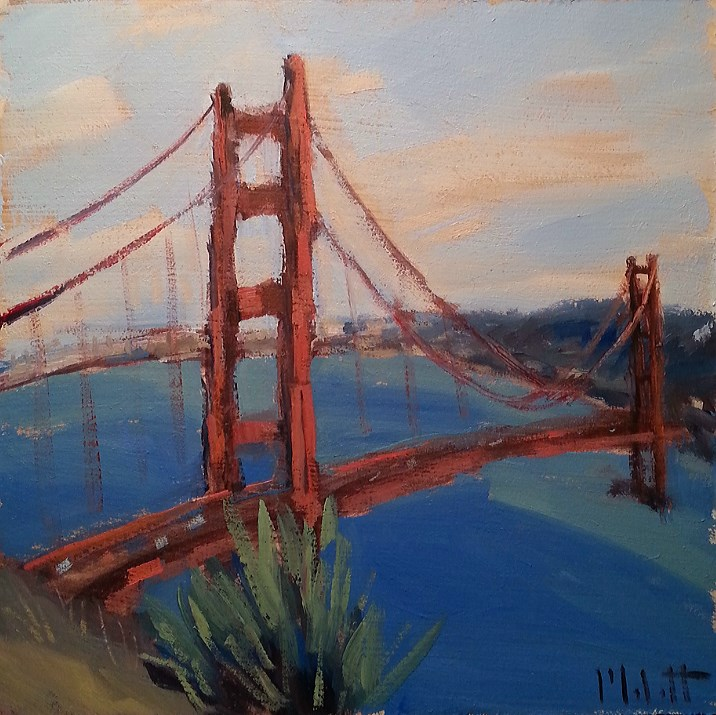 """Golden Gate Good Morning Original Oil Painting Impressionism"" original fine art by Heidi Malott"