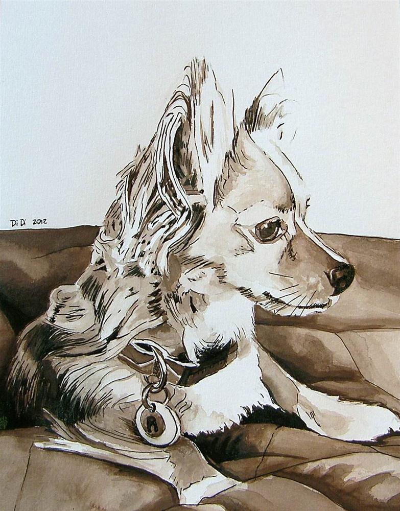 """""""Dog Portrait in Ink"""" original fine art by Dianna Poindexter"""