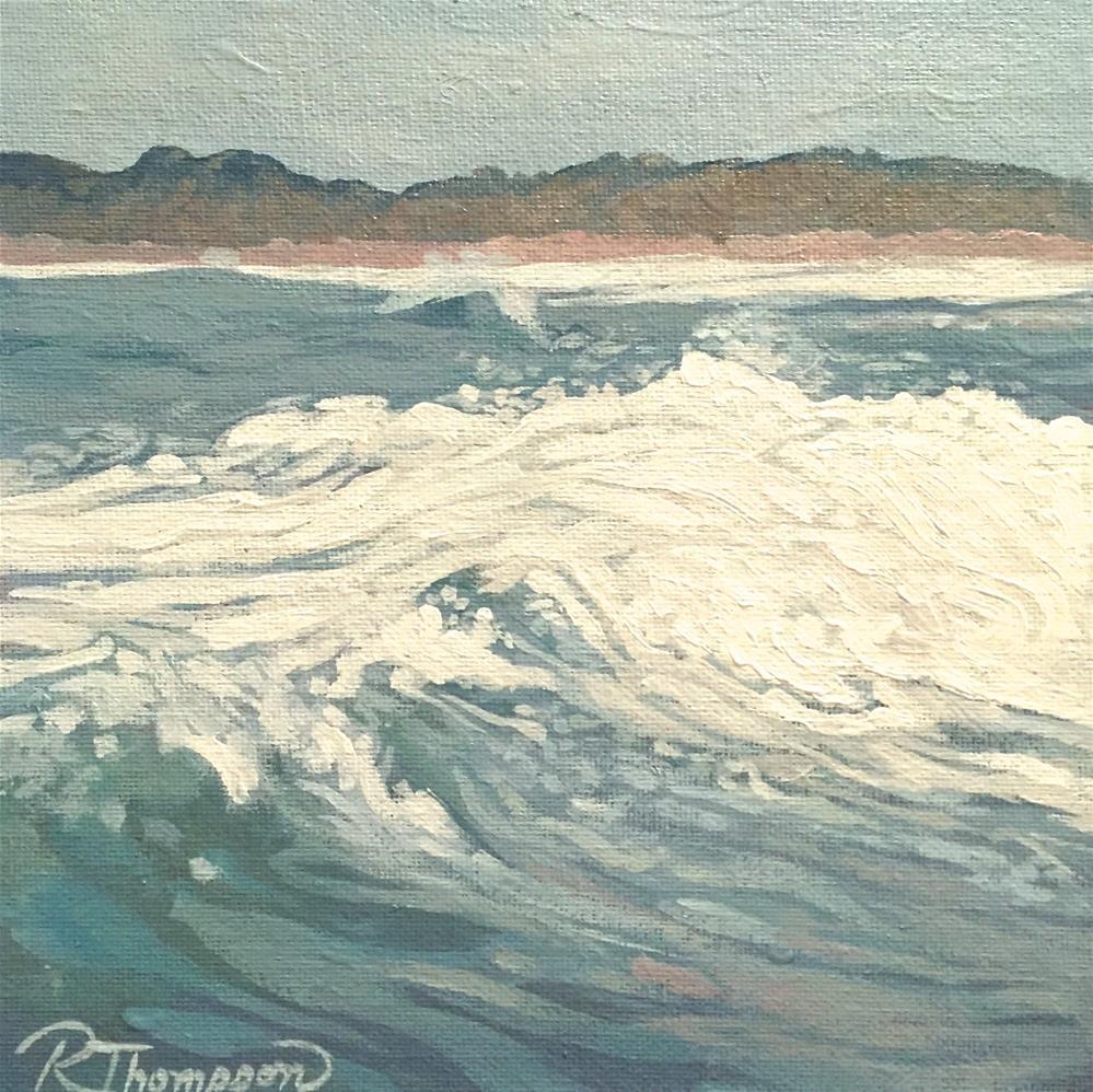 """Wave V"" original fine art by Rachel Thompson"