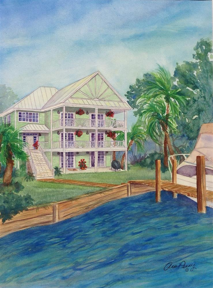 """Home on the ICWW"" original fine art by Anna Penny"