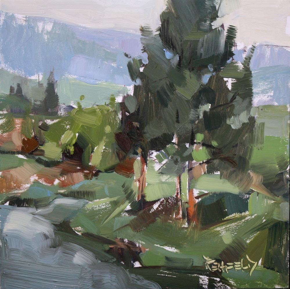 """Cloudy Morning on the Farm"" original fine art by Cathleen Rehfeld"