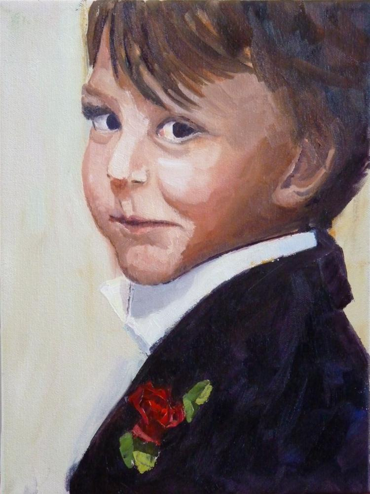 """Dashing Gabriel"" original fine art by Karen D'angeac Mihm"