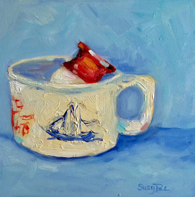 """Old Spice shaving mug"" original fine art by Suzy 'Pal' Powell"