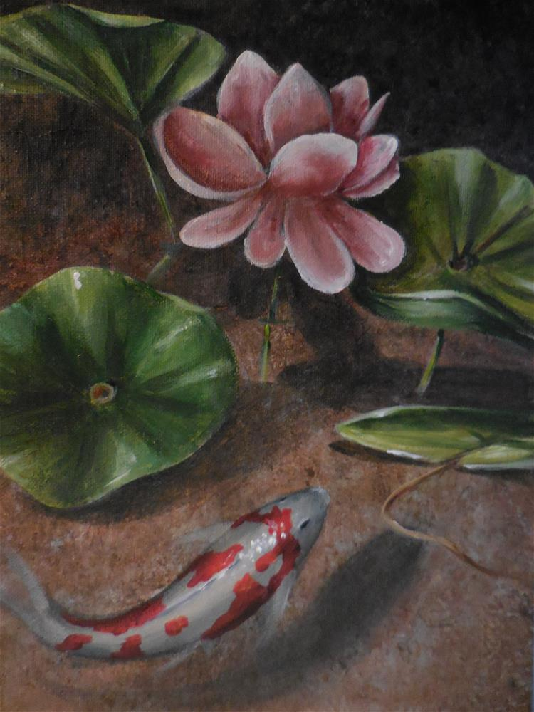 """Lotus Blossom"" original fine art by Terri Nicholson"