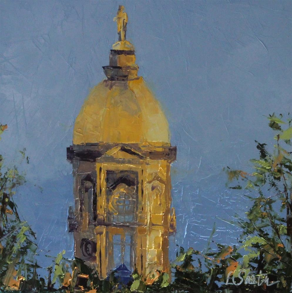 """The Dome at Notre Dame - SOLD"" original fine art by Leslie Saeta"