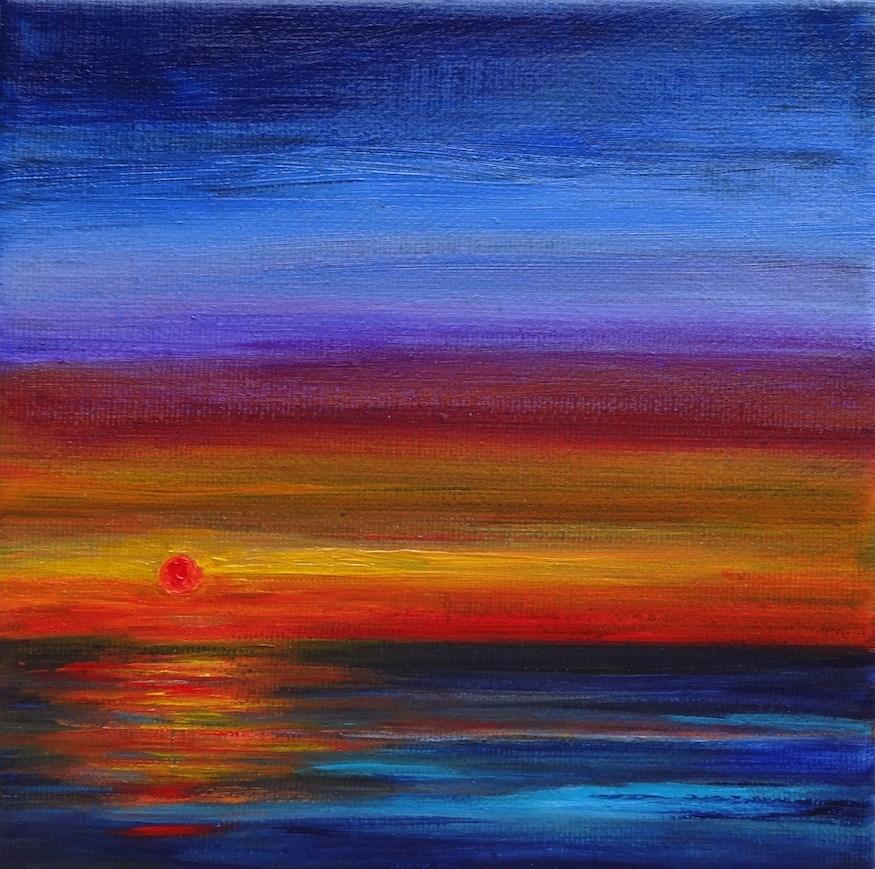 """""""4020 - Last Light - Miniature Masterpiece"""" original fine art by Sea Dean"""