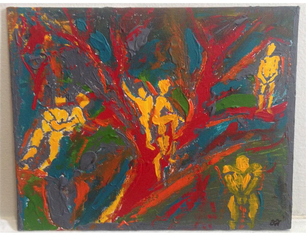 """""""In the Tree of Man"""" original fine art by Ellis Charles Hoffmeister"""