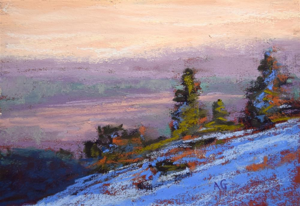 """Small landscape 5x7 inches"" original fine art by Alejandra Gos"
