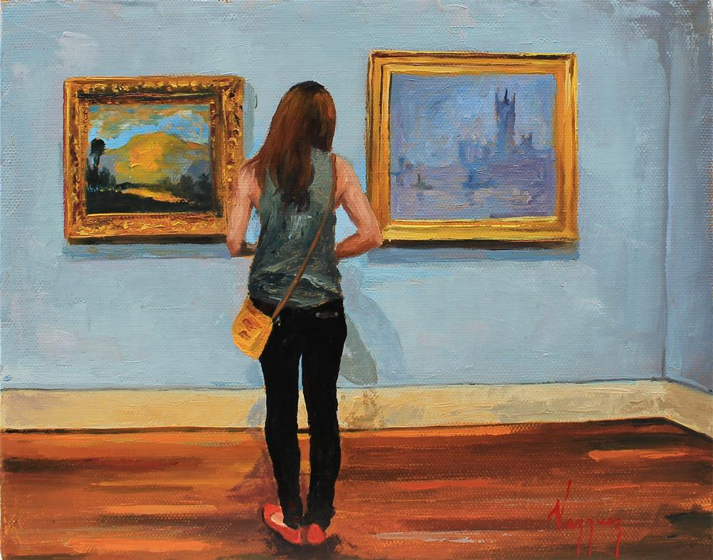 """Admiring Monet"" original fine art by Marco Vazquez"