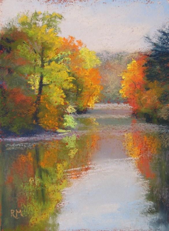 """""""Autumn Light"""" original fine art by Ruth Mann"""