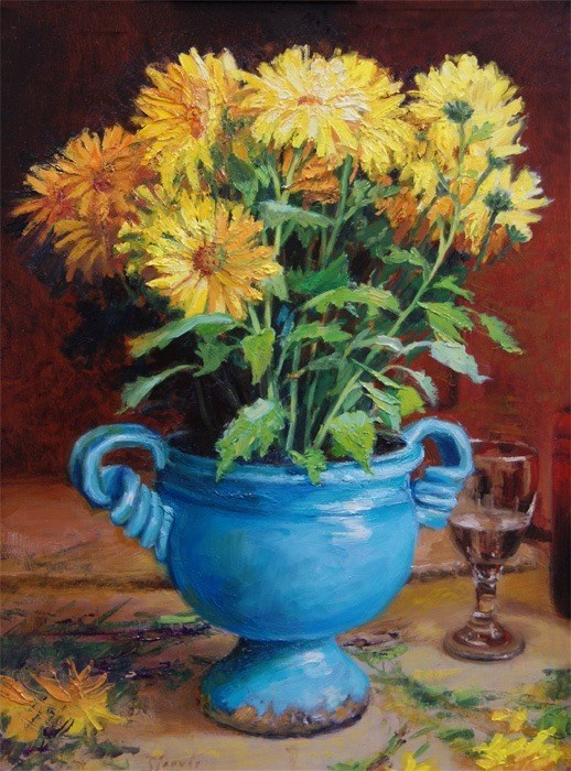 """The Blue Vase"" original fine art by Susan N Jarvis"