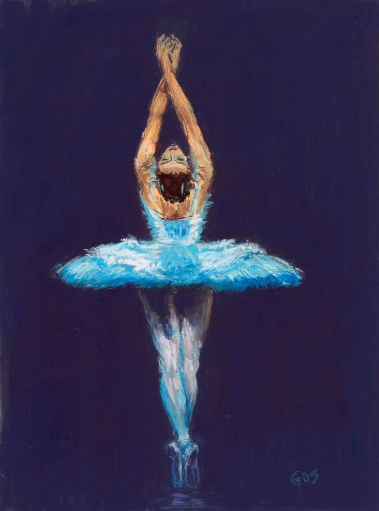 """""""Ballerina"""" original fine art by Alejandra Gos"""
