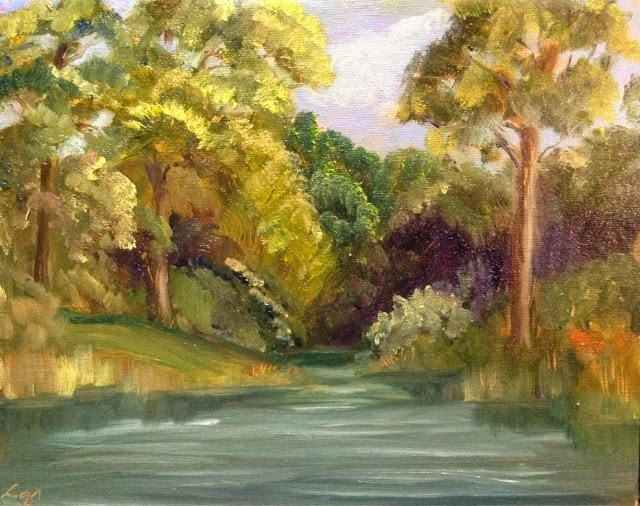 """Bayou Backwater"" original fine art by Lyn Gill"