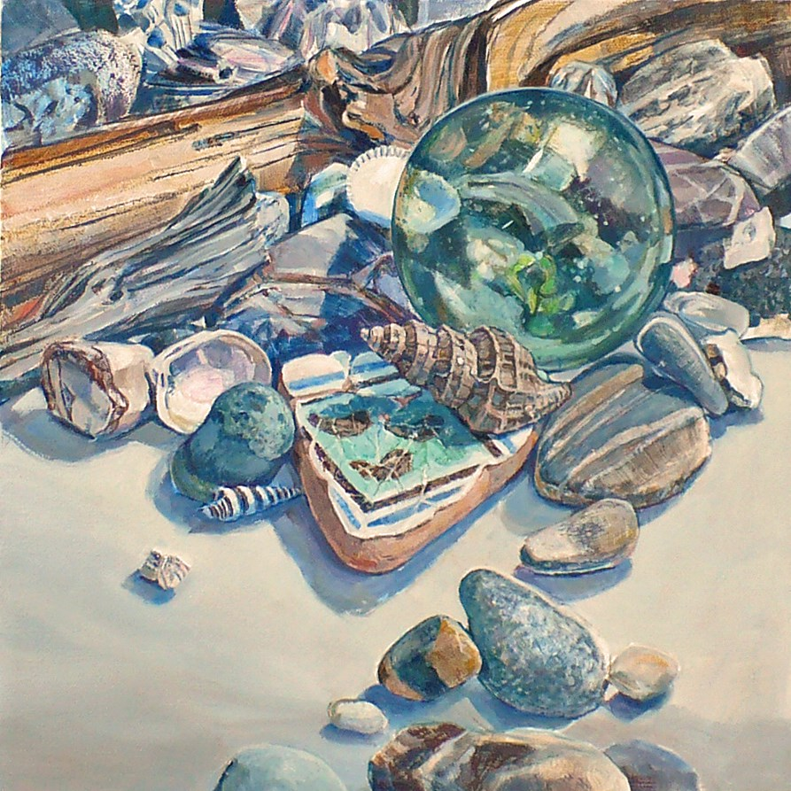 """Beach vignette: Lost and Found"" original fine art by Nicoletta Baumeister"