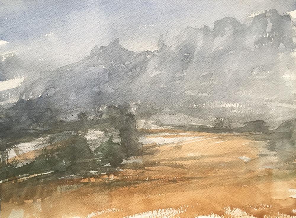 """MONTSERRAT MOUNTAIN"" original fine art by Ferran Llagostera"