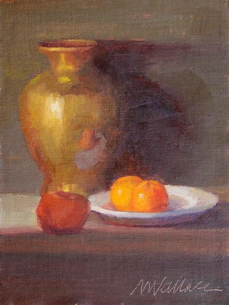 """""""#14 orange twins"""" original fine art by Nancy Wallace"""