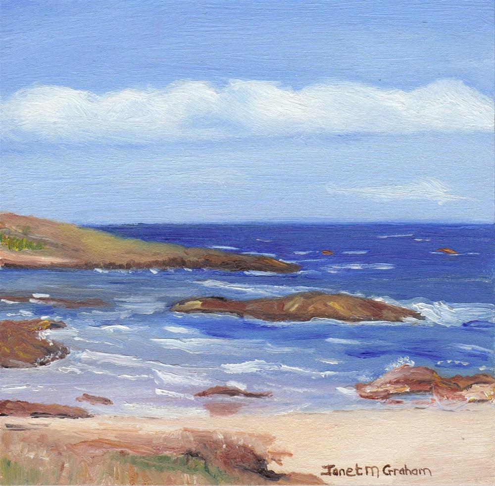 """Nelsons Bay NSW"" original fine art by Janet Graham"