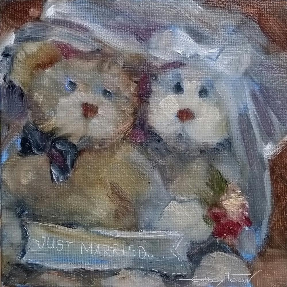 """Just Married"" original fine art by Gabriella DeLamater"