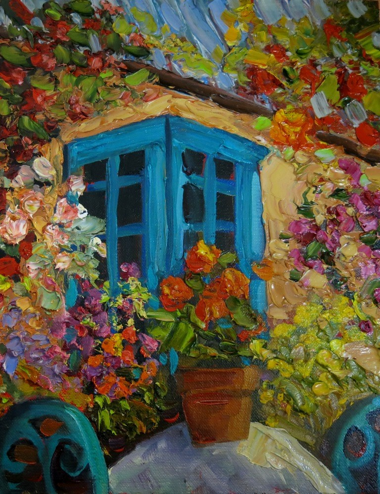 """PRIVATE GARDEN"" original fine art by Dee Sanchez"