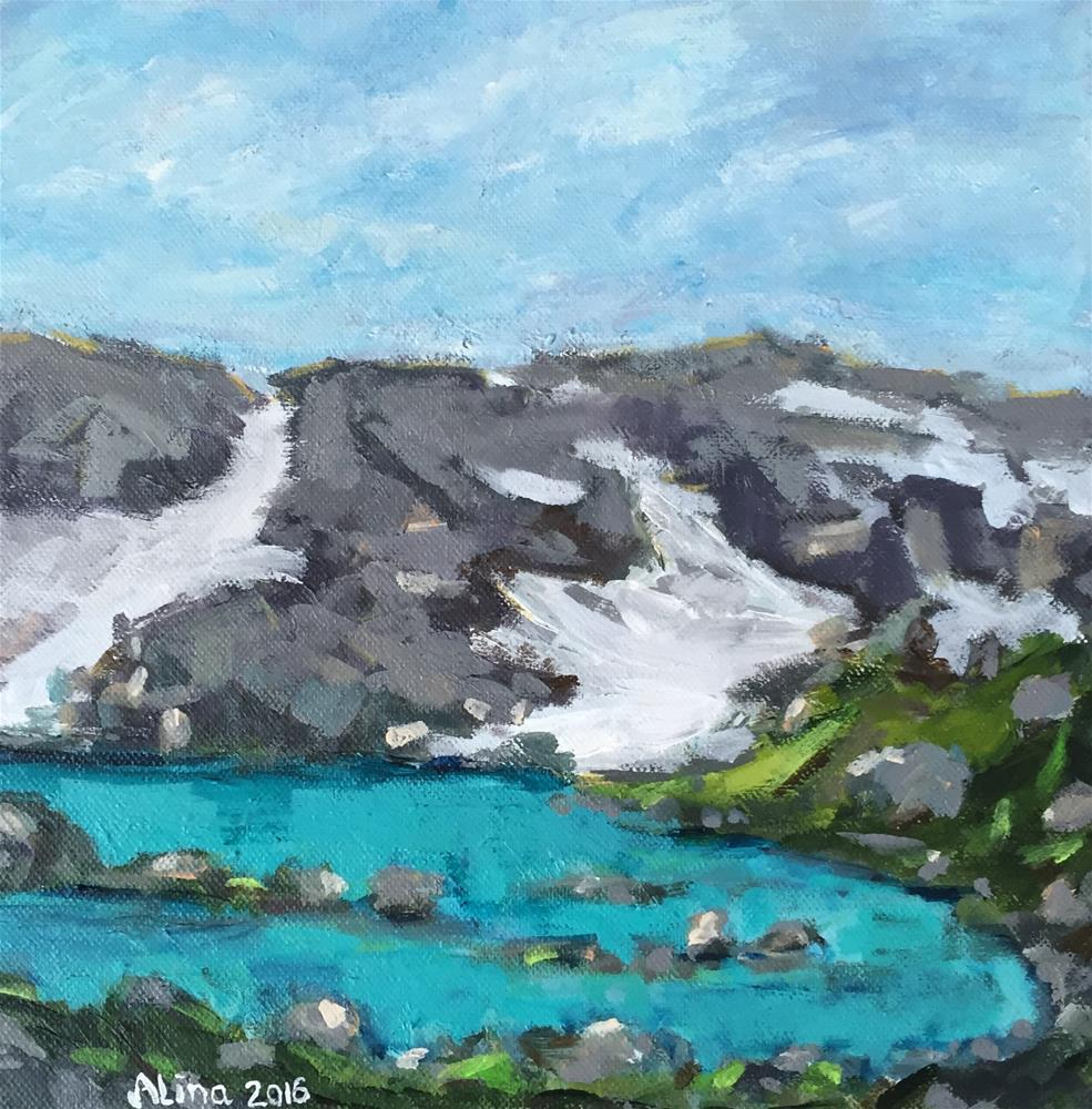 """Glacier Lake"" original fine art by Alina Vidulescu"