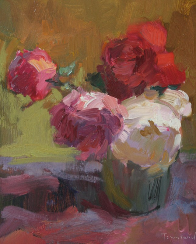 Still Life with Roses original fine art by Kathryn Townsend